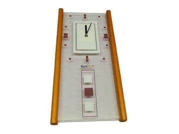 """WALL CLOCK - 480mm (18.3/4"""") x 230mm (9"""") battery operated kitchen hall lounge"""